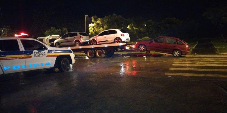 PM realiza operação de combate a perturbação de sossego e 06 veículos são apreendidos em São Gotardo