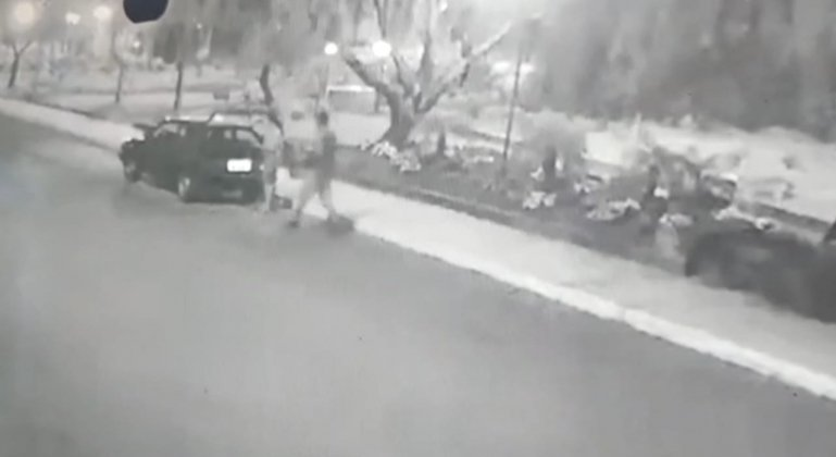 Casal é flagrado por câmera de segurança furtando plantas de praça em Lagoa Formosa