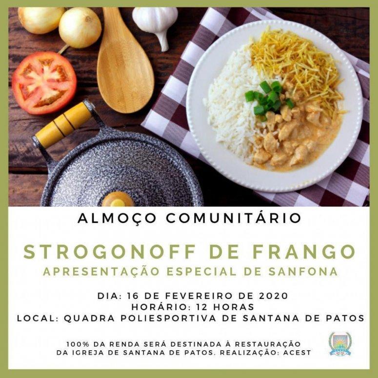 Acest promove almoço comunitário