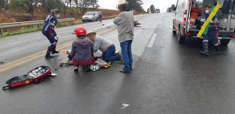 Motociclista morre em acidente na BR-365