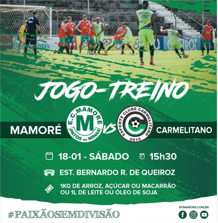 Mamoré realizará jogo-treino contra o Carmelitano no próximo sábado