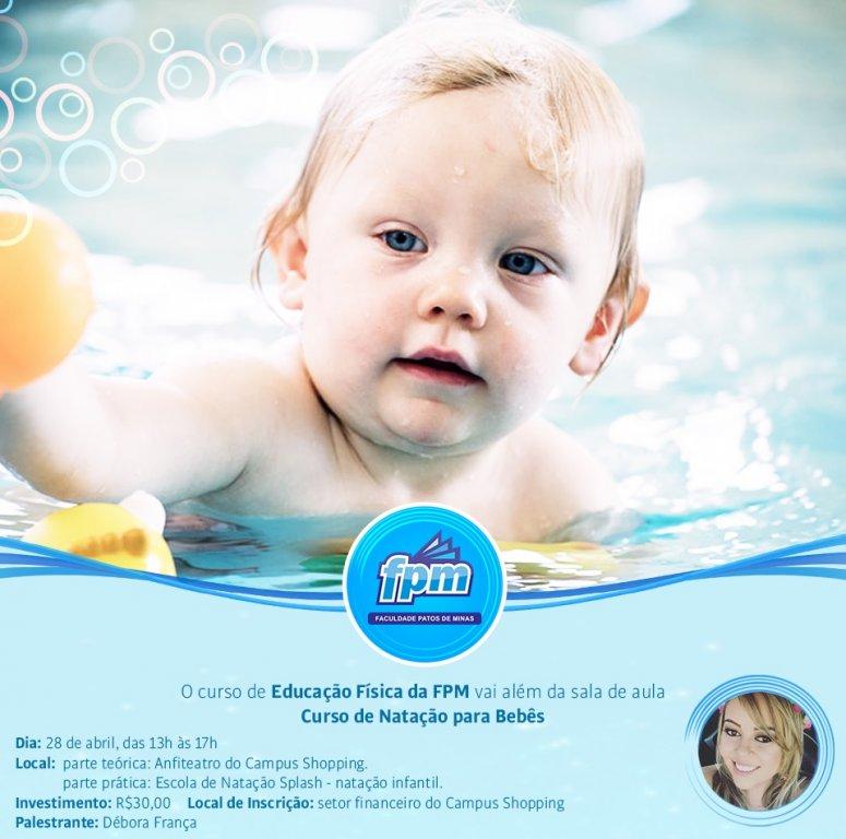 Educação Física da FPM promove curso de natação para bebês