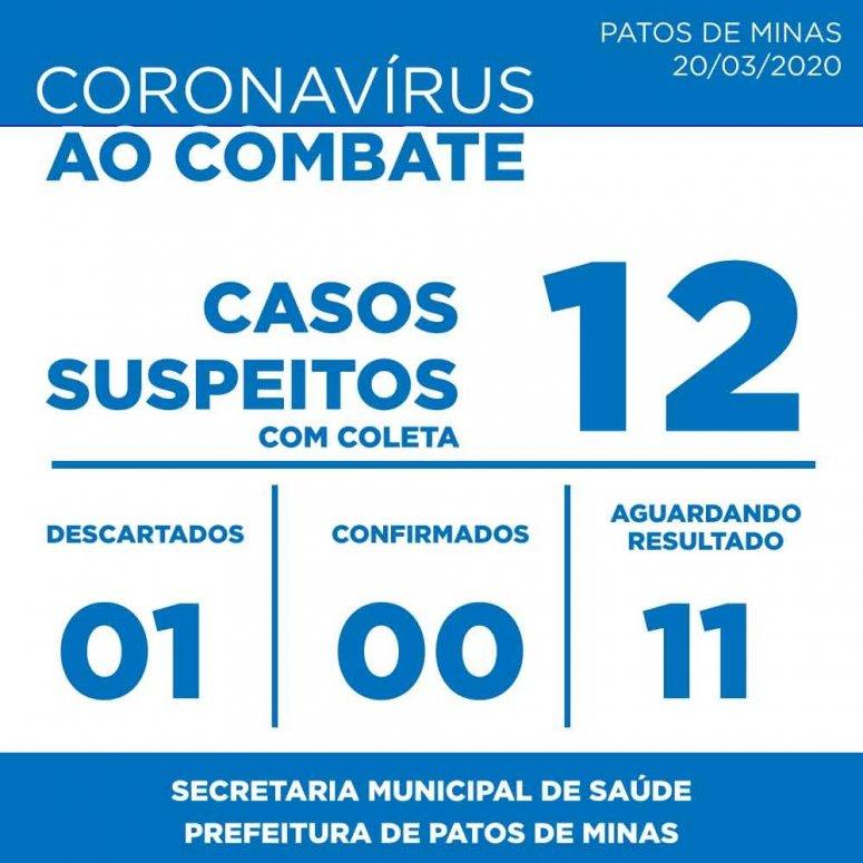 Em menos de 24 horas, número de suspeitos com coronavírus aumenta para 12