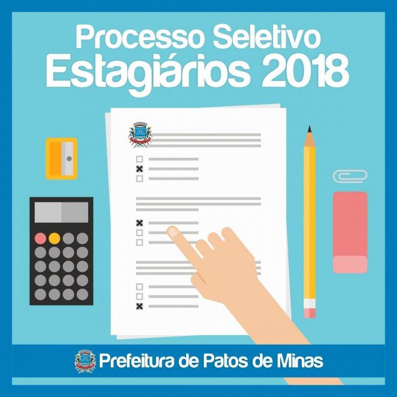 Gabarito do Processo Seletivo para contratação de estagiários já pode ser acessado no Site da Prefeitura