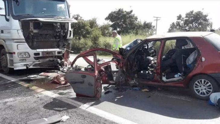 Cinco pessoas morrem em tragédia na BR-040 próximo ao município de Lagoa Grande