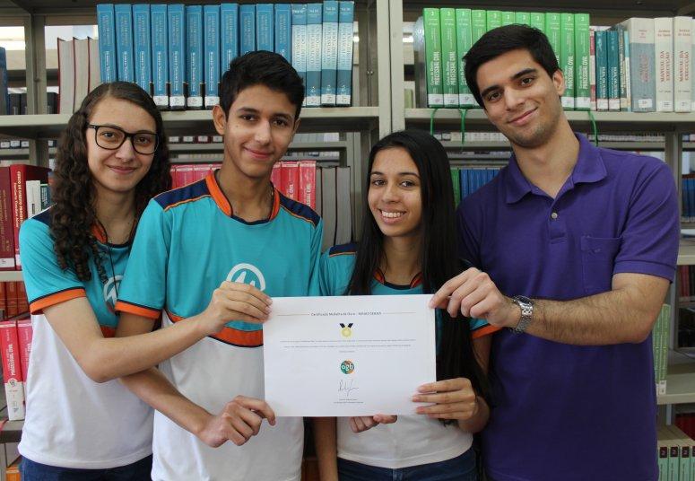 Alunos do Ensino Médio UNIPAM conquistam medalha de ouro regional na Olimpíada GeoBrasil